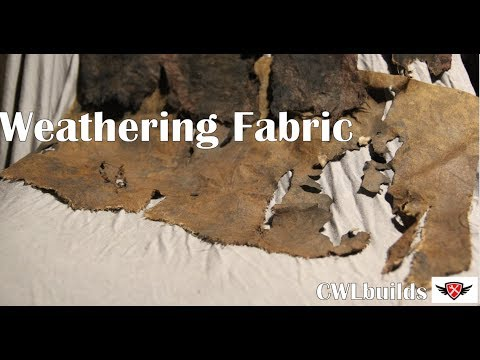 Weathering Fabrics (cotton, flannel, and fake fur)