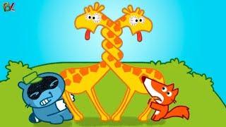 МАЛЫШ ПАНГО В Зоопарке Жирафы Запутались Весёлое Видео для Детей