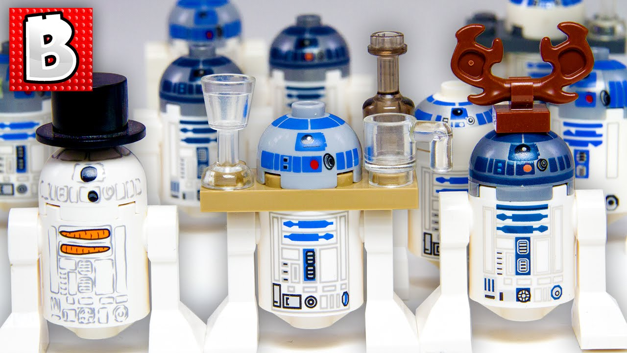 Every lego r2 d2 minifigure ever star wars collection review youtube - Lego starwars r2d2 ...