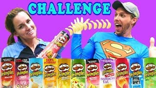 PRINGLES CHALLENGE! Loser Eats a 5 Layer Pringle Sandwich - Throw Up Vomit?