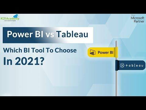 Power BI vs Tableau | Top BI Tools 2021 | Tableau vs Power BI