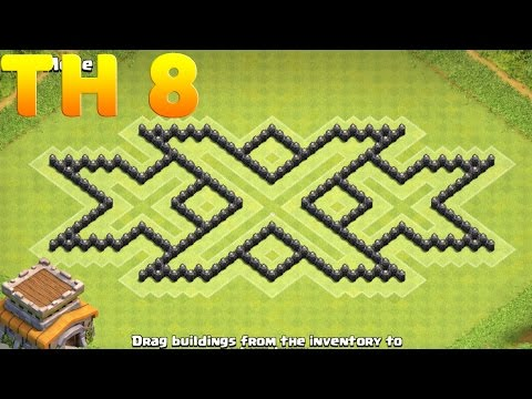 Town Hall 8 XXx Base Design Clash Of Clans (CoC TH8)