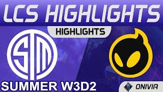 TSM FTX vs DIG Highlights LCS Summer 2021 W3D2 Team SoloMid FTX vs Dignitas by Onivia