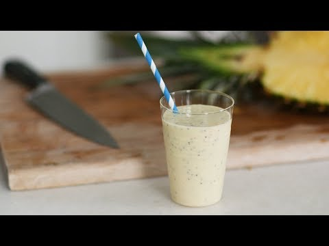 Pineapple-Coconut Chia SmoothieHealthy Appetite with Shira Bocar