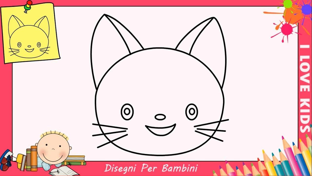 Come Disegnare Un Gatto Facile Passo Per Passo Per Bambini 8 Youtube