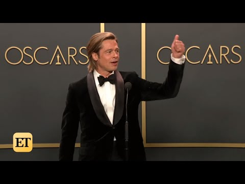 Brad Pitt Wins Oscar For Best Supporting Actor | Oscars 2020 Full Backstage Interview