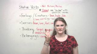 English Grammar - Stative Verbs