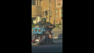 Biker Takes His Dog Out For a Ride, Dressing Him In A Leather Jacket