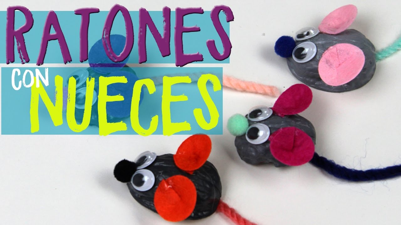 Manualidades f ciles para ni os ratones nuez youtube for Manualidades faciles decoracion