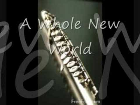 A Whole New World Aladdin  Flute and Background