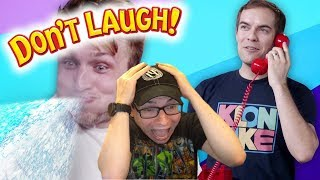 SMOSH PIT'S TRY NOT TO LAUGH CHALLENGE #28 | Dan Ex Machina Reacts