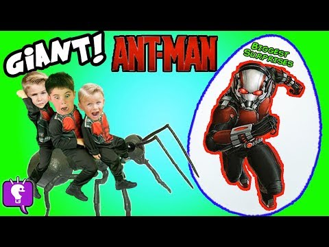 Giant ANT-MAN Adventure with Toy Reviews and an Ant-Farm!