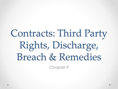 Contracts: Third Party Rights and Discharge