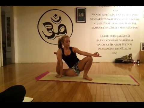 ashtanga yoga  placing legs behind your head in dwi pada