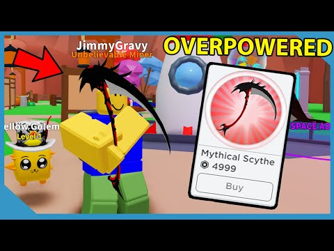 Buying The Mythical Scythe Gamepass In Roblox Mining Simulator