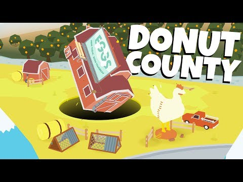 GIANT SINKHOLES Swallow EVERYTHING! - Donut County Gameplay