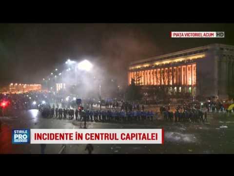 Incidente in fata Capitalei, Piata Victoriei