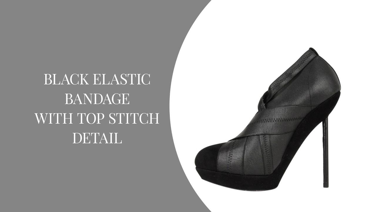 bb36502305f YSL Yves Saint Laurent Shoe Platform Bandage Suede Shootie 39 / 9 ...