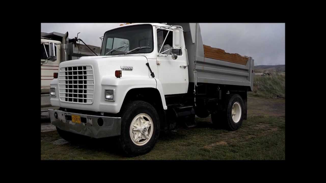 Ford Dump Truck >> 1983 Ford L8000 5 Yard Dump Truck, Walk-around and Driving - YouTube