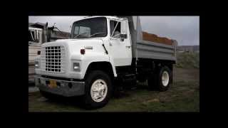 1983 Ford L8000 5 Yard Dump Truck, Walk-around and Driving