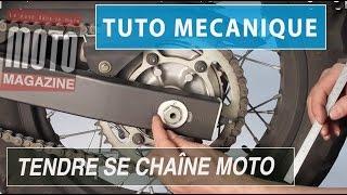 Mécanique moto : bien tendre sa chaîne secondaire (tuto mécanique)