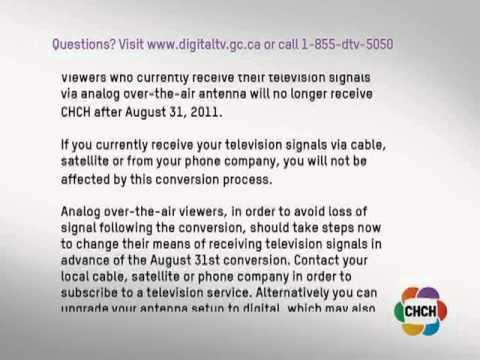 CHCH digital transition PSA (2011-05-23)