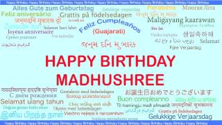 Madhushree   Languages Idiomas - Happy Birthday
