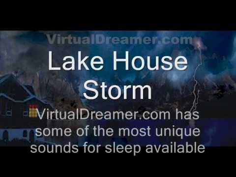 Rain and Storm Sounds : Lake House Storm - 50 Minutes