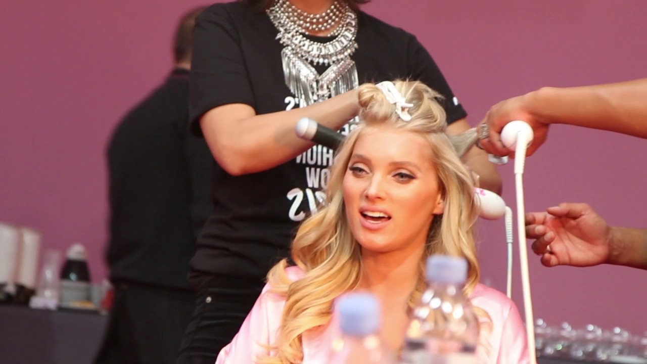 Elsa hosk uses the beachwaver backstage to get sexy victorias elsa hosk uses the beachwaver backstage to get sexy victorias secret hair baditri Image collections
