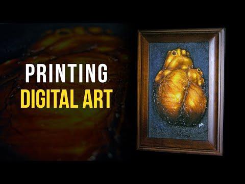 How To Print Digital Art - Digital Artist Vlog