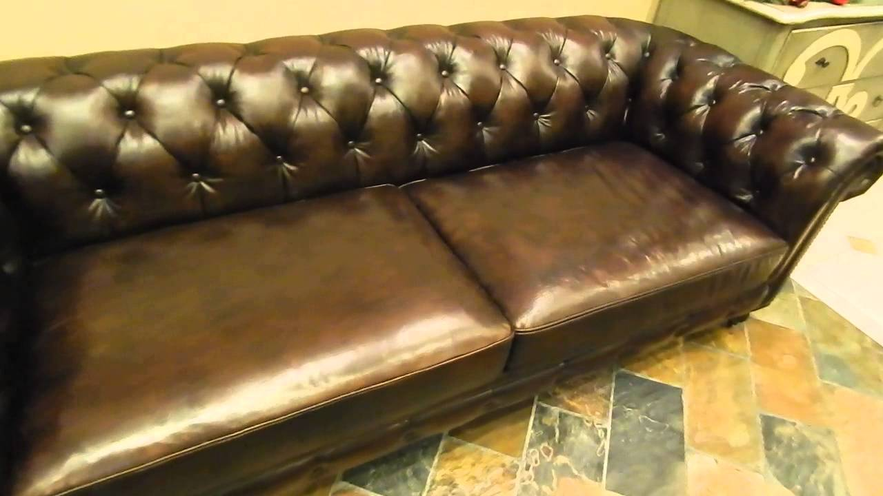 Kendle Leather Chesterfield Sofa on Sale