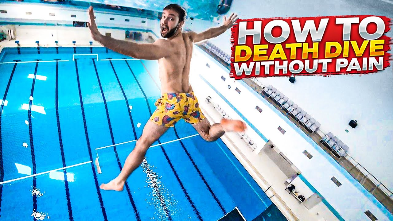 Download How to death dive? | BELLY FLOP without PAIN! | water jump tutorial in a swimming pool