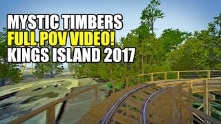 Mystic Timbers Wooden Roller Coaster Front Seat POV Kings Island 2017