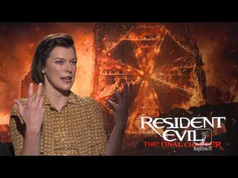 Milla Jovovich interview RESIDENT EVIL THE FINAL CHAPTER