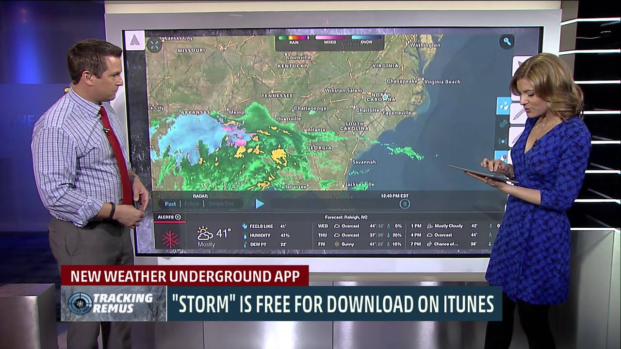 Storm App Demo on The Weather Channel