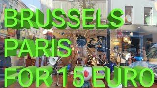 Брюссель- Париж за 15 евро.