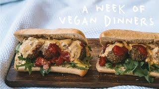 A WEEK OF VEGAN DINNERS | Easy & Delicious Recipes!