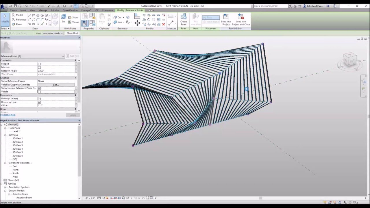 Adaptive Components With A Revit Conceptual Mass Youtube