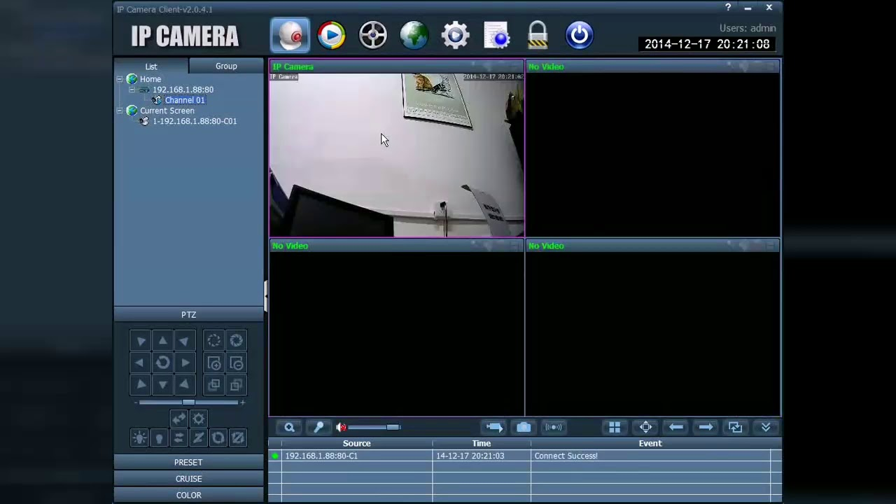 AGMS CAMHI IP CAMERA PC SOFTWARE Client Part1