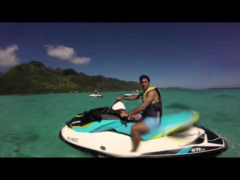 Jetski and snorkling session in French Polynesia (Moorea)