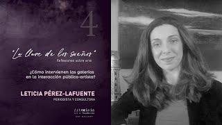 Cómo intervienen las galerías en la interacción público-artista? Leticia Pérez-Lafuente /La llave...