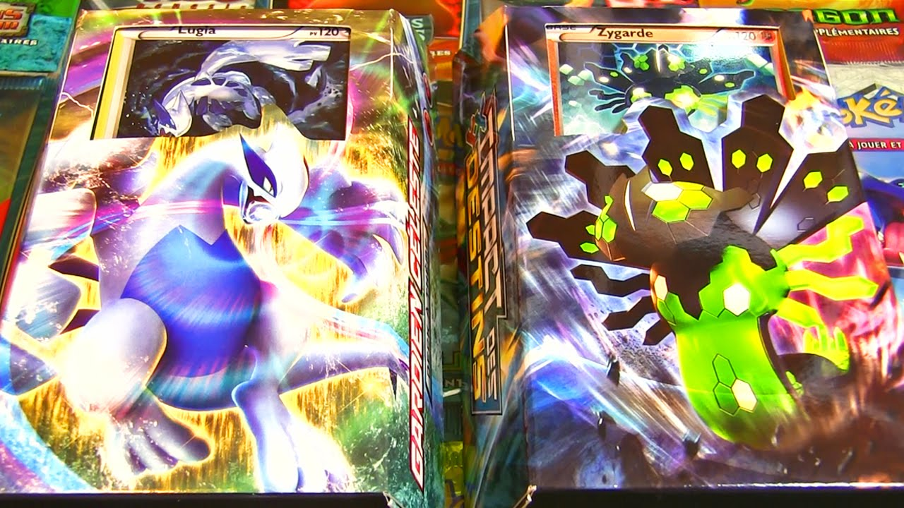 Ouverture des decks pok mon xy10 impact des destins - Pokemon legendaire pokemon y ...