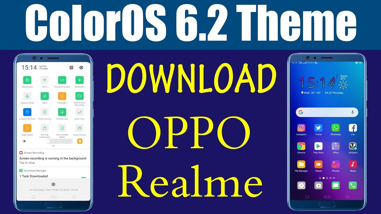 Download ColorOS 6 2 theme for oppo and realme devices | ColorOS 6 theme  download