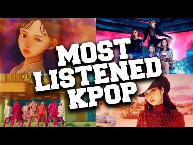 Top 50 Most Listened KPop Songs in May 2020