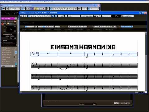 Notation mit dem Roland FR7-X und Steinberg Cubase