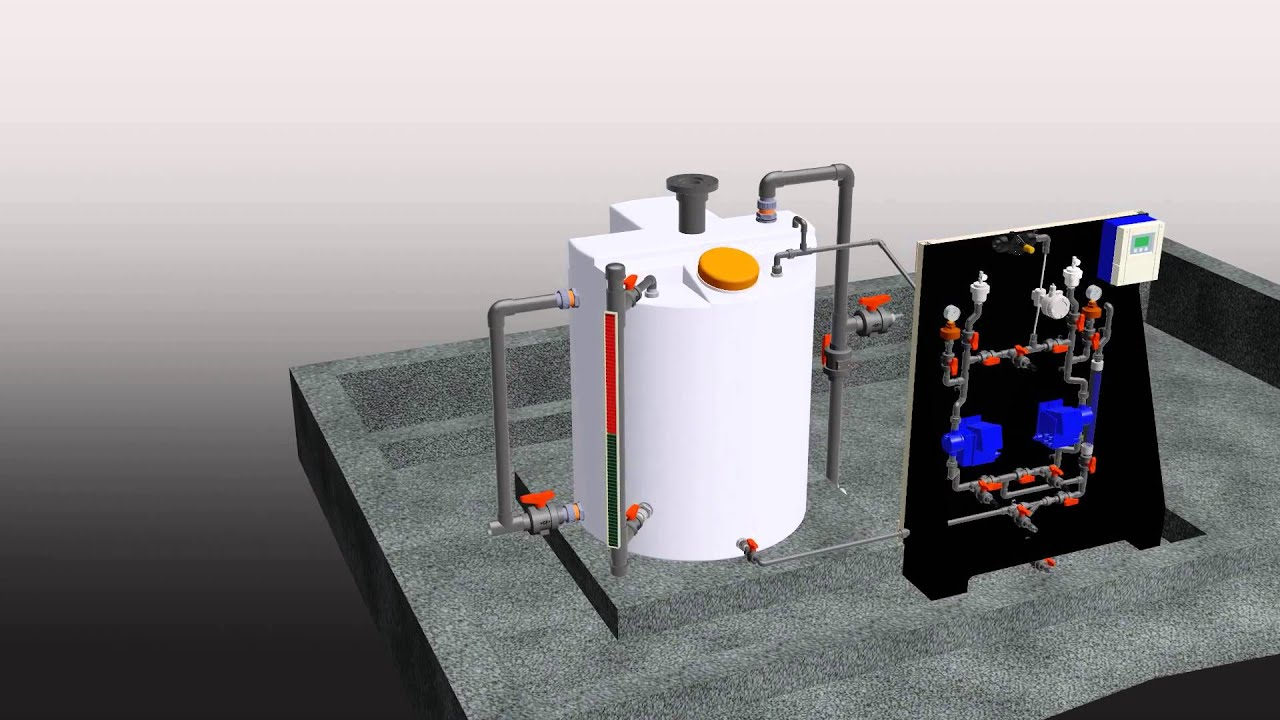 3d Model Dioxide Pacific Chemical Dosing System