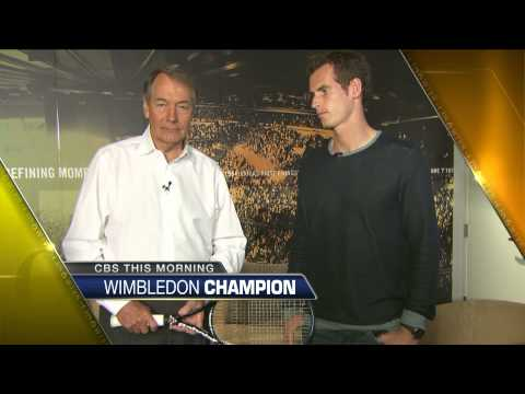 Awkward Charlie Rose and Andy Murray tease