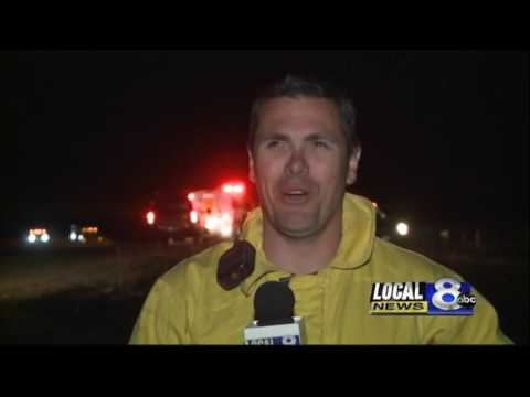 6:30a report: Fire still burning in foothills SE of Ammon