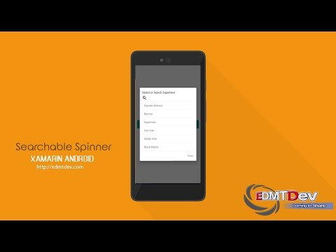 Xamarin Android Tutorial - Searchable Spinner