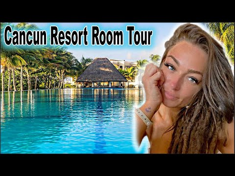 2021 Cancun Mexico Vacation Room Tour   Grand Moon Palace   All Inclusive Resort